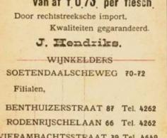 J. Hendriks prijslijst